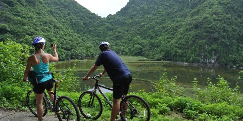 Biking on Cat Ba island